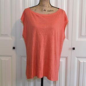 Eileen Fisher Organic Linen Top Size L